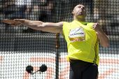 June 14 2009; Berlin Germany. Piotr MALACHOWSKI (POL) competing in the discus at the DKB ISTAF 68 In