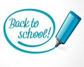Back to school message on note paper hand draw vector illustration eps 10