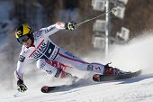 VAL D'ISERE FRANCE. 11-12-2010. HIRSCHER Marcel (AUT)  speeds down the course during  the FIS alpine skiing world cup giant slalom race on the Bellevarde race piste Val D'Isere.