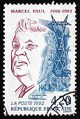 Postage Stamp France 1992 Marcel Paul, Minister Of Industrial Pr