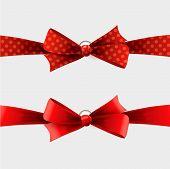 Red polka dot bow and ribbon