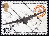 Postage Stamp Gb 1974 Imperial Airways Flying Boat