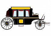 Black Retro Stagecoach