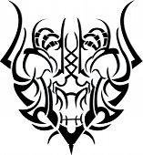 grasshopper tattoo on white background