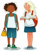 Back to School - Two Happy Students