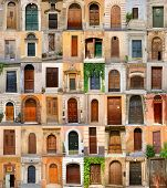 doors in Italy, collection of different beautiful ancient door in italian cities, architectural details