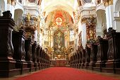 WACHAU, AUSTRIA - AUGUST 2012 : A beautiful Church inside Durnstein Abbey (Stift Durnstein) on Augus