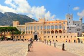 MONACO - JULY 27: Exterior view of palace - official residence of Prince of Monaco. It is one of the