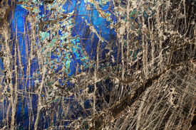 picture of feldspar  - Detail close up of the patterns and colours in the feldspar mineral Labradorite - JPG