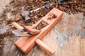 Carpenter Planed Wood Background