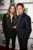 Jared Leto and Robert Downey Jr. at the 17th Annual Hollywood Film Awards Backstage, Beverly Hilton
