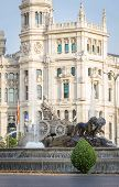 Famous Cibeles fountain square in Madrid, Spain