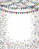 Bunting Flags Confetti Frame