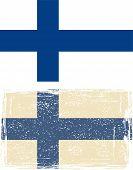Finland grunge flag. Vector