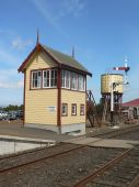 Restored signalbox and signal