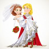 Wedding Of Prince And Fairytale Princess