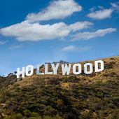 HOLLYWOOD CALIFORNIA - APRIL 12, 2013: Located in Hollywood Hills at Mount Lee the world famous land