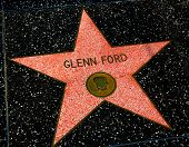 HOLLYWOOD, CALIFORNIA - APRIL 12, 2013: Glenn Ford Star on Hollywood Walk of Fame in Hollywood Calif