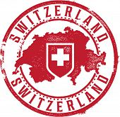 Switzerland European Country Rubber Stamp
