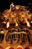 BARCELONA, SPAIN - SEPTEMBER 10: Casa Batllo at night on September 10, 2012 in Barcelona, Spain. The