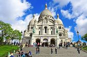 PARIS, FRANCE - MAY 5: Tourist at the Sacre-Coeur Basilica on May 5, 2013 in Paris, France. The basi