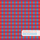 red and blue gingham background