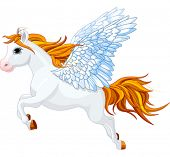 Cute winged horse of Greek mythology