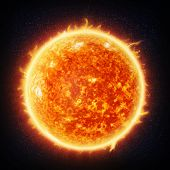Sun and stars (Nasa imagery)