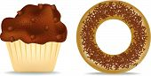 Muffin And Donut