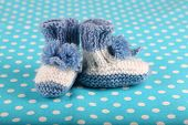 pic of booty  - Crocheted booties for baby - JPG