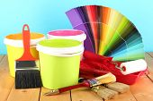 stock photo of paint pot  - Paint pots - JPG