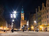 GDANSK, POLAND - February 1, 2014: City Hall Old Town Gdansk Poland Europe
