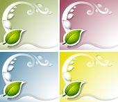 Illustration of the four leaf background