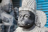 stock photo of hanuman  - Hanuman monkey god statue in the Mamallapuram market Tamil Nadu India - JPG