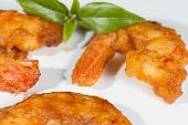 picture of grout  - Prawns breaded shrimp with a homemade grout - JPG
