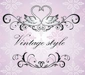 Vintage wedding frame