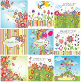 Summery colorful cards