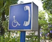 Disabled Public Phone Sign