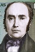 LITHUANIA - CIRCA 2007: Simonas Daukantas (1793-1864) on 100 Litu 2007 Banknote from Lithuania. Lith