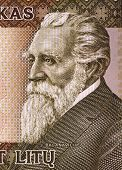 LITHUANIA - CIRCA 2003: Jonas Basanaviciuson (1851-1927) on 50 Litu 2003 Banknote from Lithuania.  A