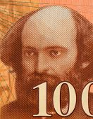 FRANCE - CIRCA 1997: Paul Cezanne (1839-1906) on 100 Francs 1997 Banknote from France. Influential French artist and Post-Impressionist painter.