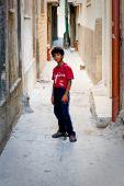 Filho de campo de refugiados de Balata