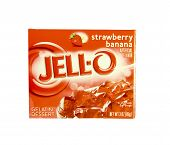 Box Of Jell-o Strawberry Banana Gelatin Dessert