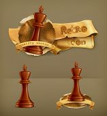 Chess King, vector icon