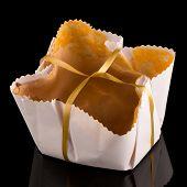 foto of sponge-cake  - Tasty sponge cake traditional desert from Portugal - JPG