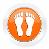 foot orange computer icon