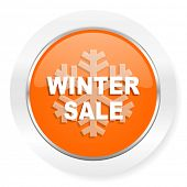 winter sale orange computer icon