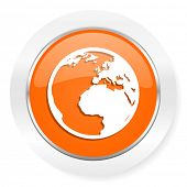 earth orange computer icon