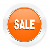 sale orange computer icon