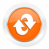 rotation orange computer icon
